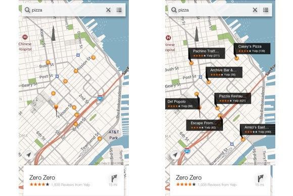 fire phone slider maps yelp