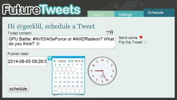 future tweets schedule