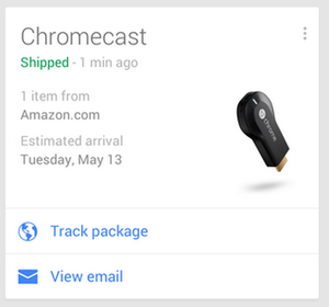 google now shipping