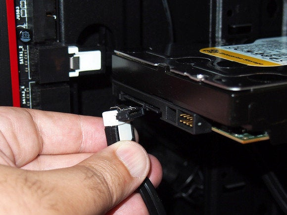 hard drive installation sata data