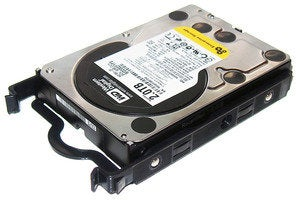 hard drive with tool less brackets