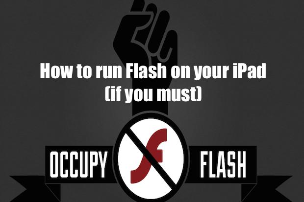 how do i install adobe flash on my ipad