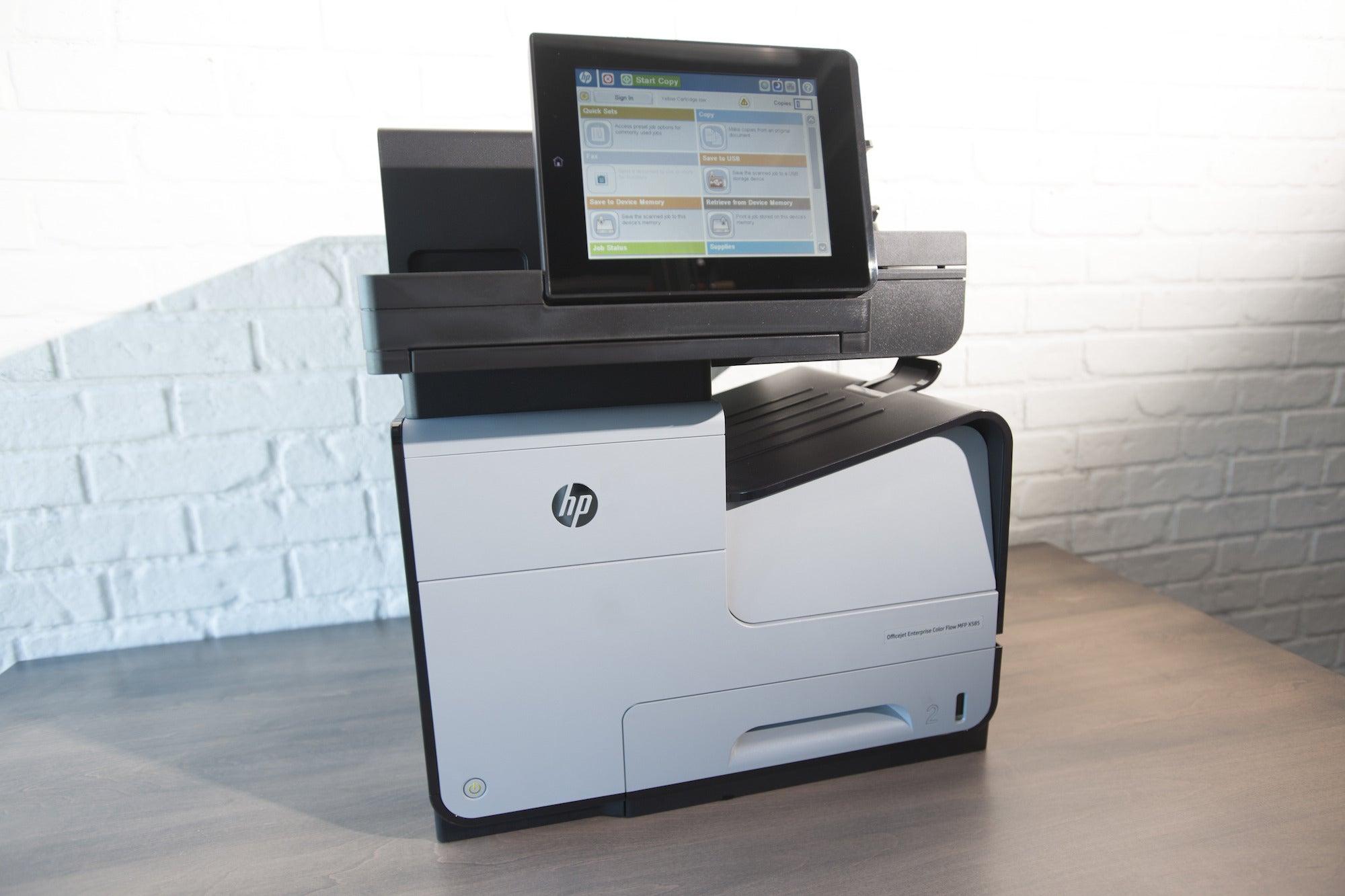 hp officejet enterprise color flow x585z multifunction printer review