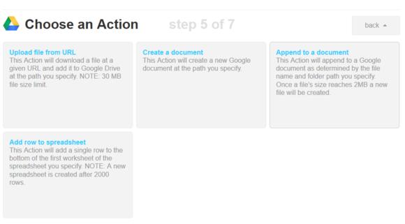 ifttt google drive action