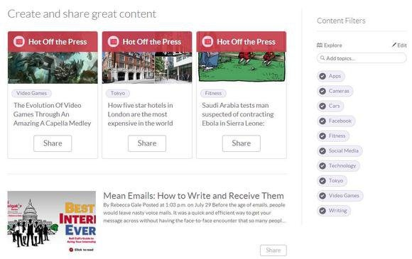 klout create content screen