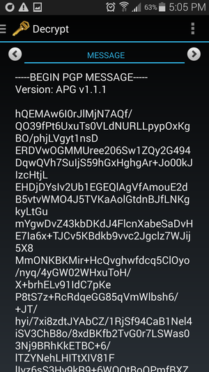 pgp decrypt android 3