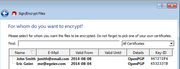Use OpenPGP to encrypt your email messages and files in the