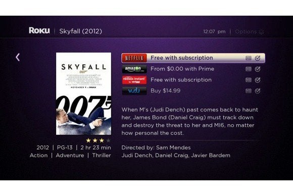 roku search vudu