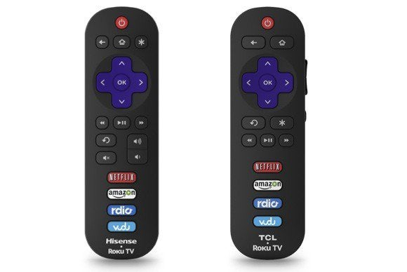 roku tv remotes sidebyside