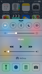slide up to get ios dashboard