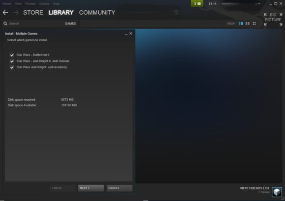 steam batchinstall