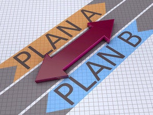 Strategy: Plan A or B arrows