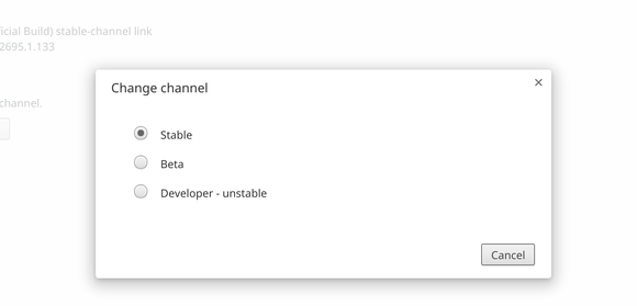 switch channels in chrome os