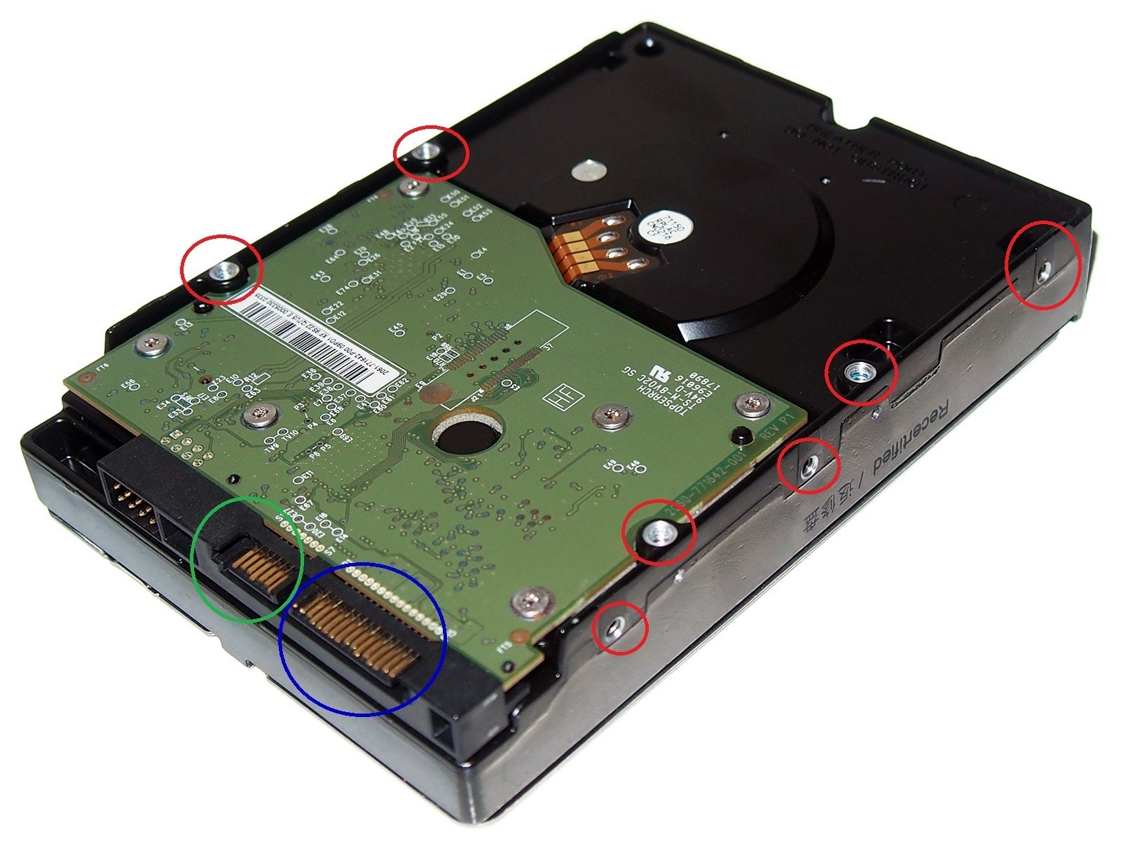 What the hell is going on with hard drive mounting holes