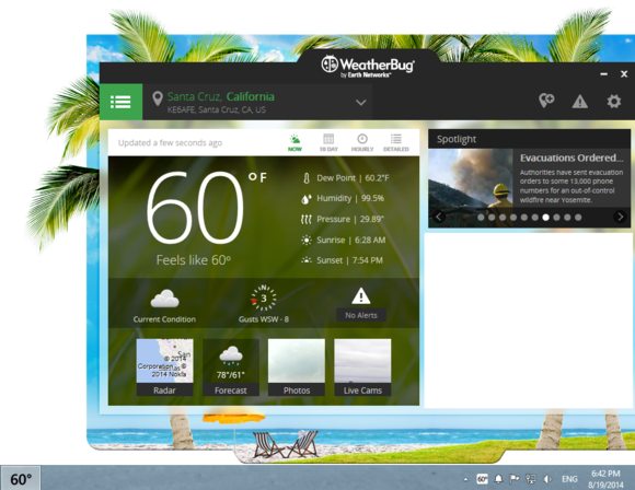 Three easy ways to get the weather on your desktop | PCWorld