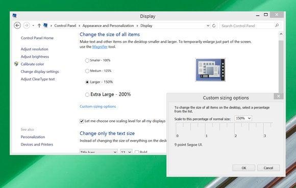 windows 8 custom display scaling