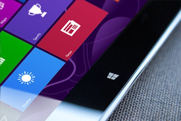 windows 8 tablet close up