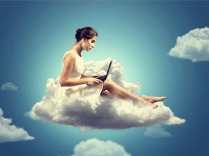 woman on cloud