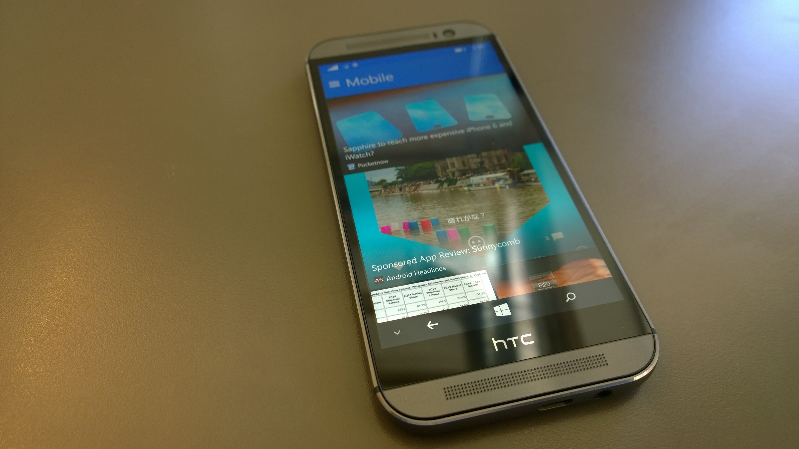 HTC One (M8) for Windows review: a novel new take on Windows