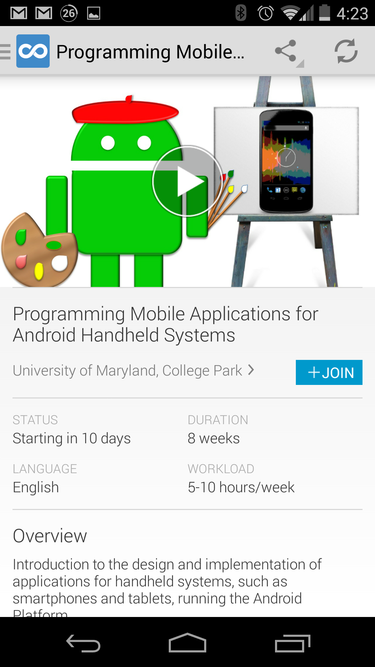 Eight Free Courses in Android Applications