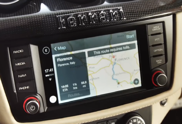 apple carplay ferrari navigation sep 2014
