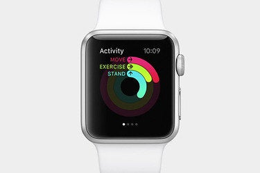 Apple iWatch health and fitness apps.