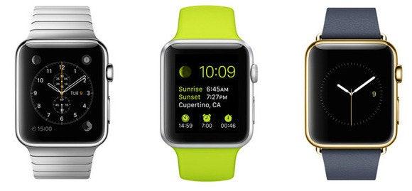 trio de montres apple