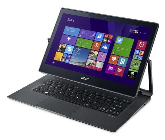 Acer aspire r13 left facing ezel win