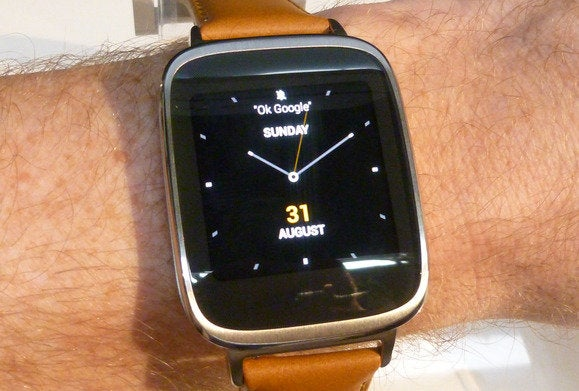 asus zenwatch arms on