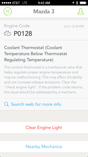 automatic app on phone  check engine aug 2014