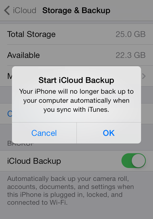 back up to icloud ios