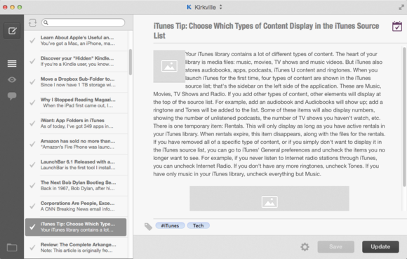 blogo editing text