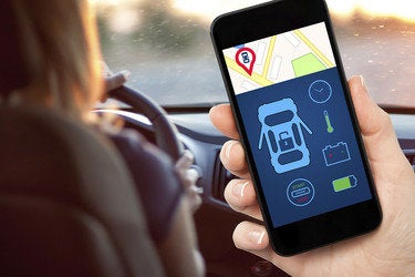 Smartphone car app data
