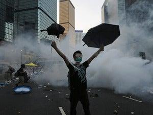 china hongkong protest teargas