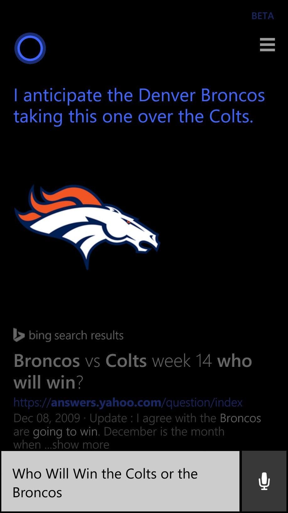 Microsoft's Cortana now picks NFL football winners, too | PCWorld