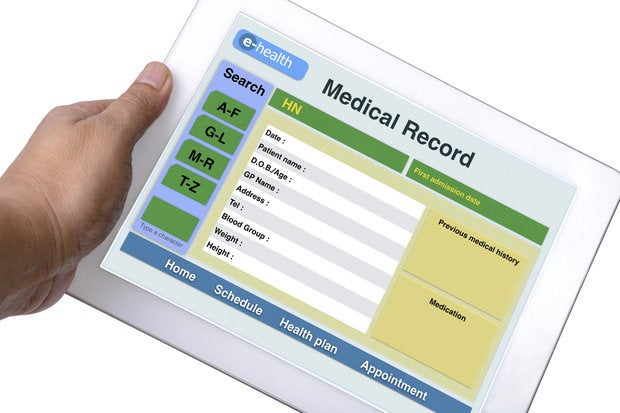 ehealth records thinkstock