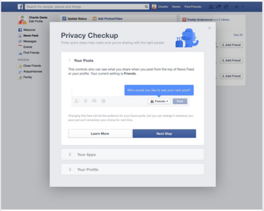 fb privacy checkup posts