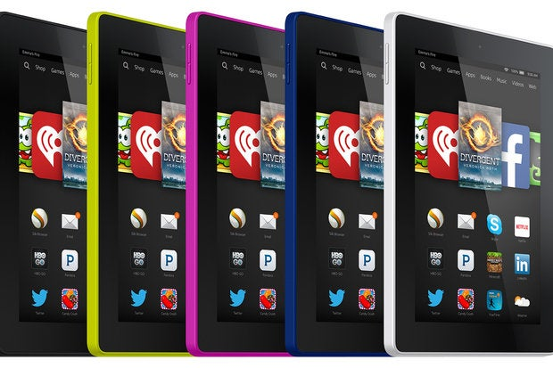 Amazon Fire HD in colors
