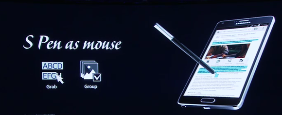 galaxy note 4 s pen as mouse