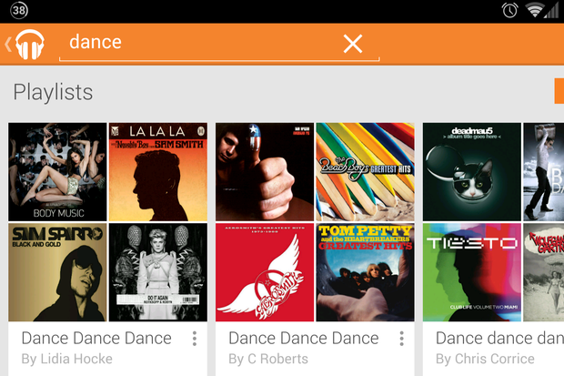 google play music playlists