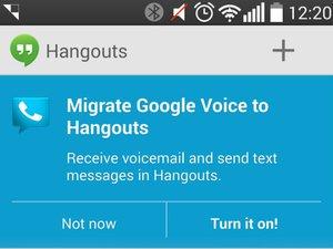 google voice hangouts