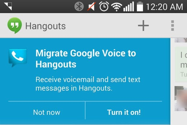 Google Voice integration starts appearing in Google Hangouts
