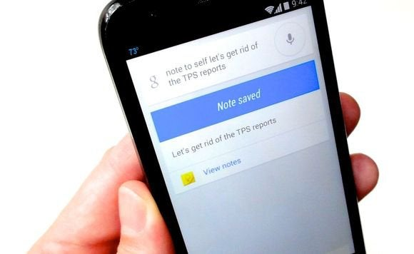 google now voice note
