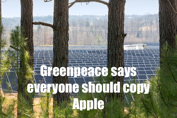 greenpeace says everyone should copy apple