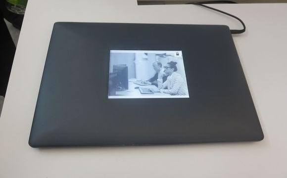 intel eink laptop second screen