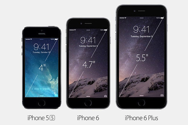 iPhone 5 / 6 / 6 Plus comparison