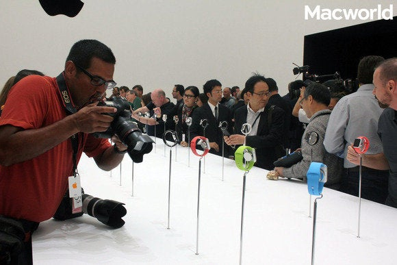 Media at Apple event