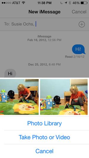 messages recent pics