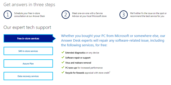 microsoft store answer desk
