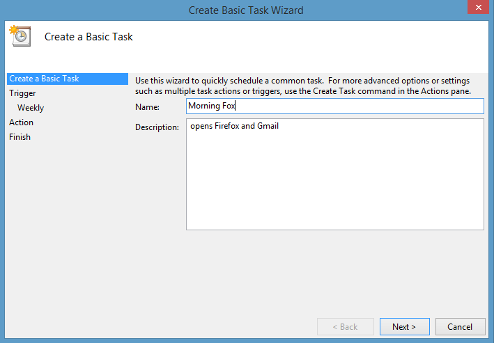Automate your morning programs with Windows Task Scheduler
